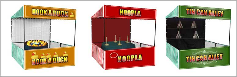 Exhibition Stall Games : A wide selection of side stall games for hire events