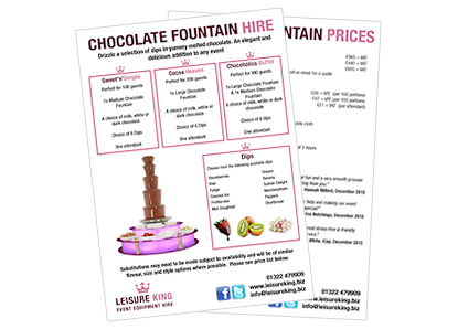 wedding chocolate fountain hire