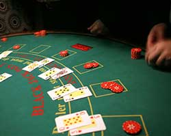 fun black jack table hire