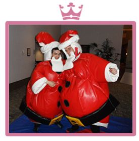Santa and Elf Sumo Suits